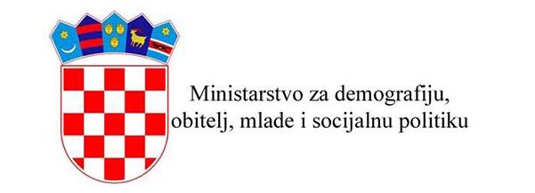 Logo Ministarstva za demografiju, obitelj, mlade i socijanu politiku